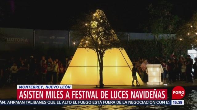 FOTO: 31 diciembre 2019,asisten miles a festival de luces navidenas