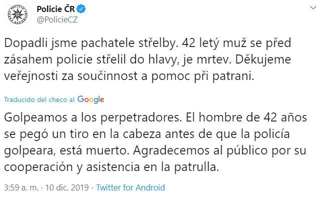 Tiroteo en hospital de República Checa deja seis muertos; sospechoso se suicida