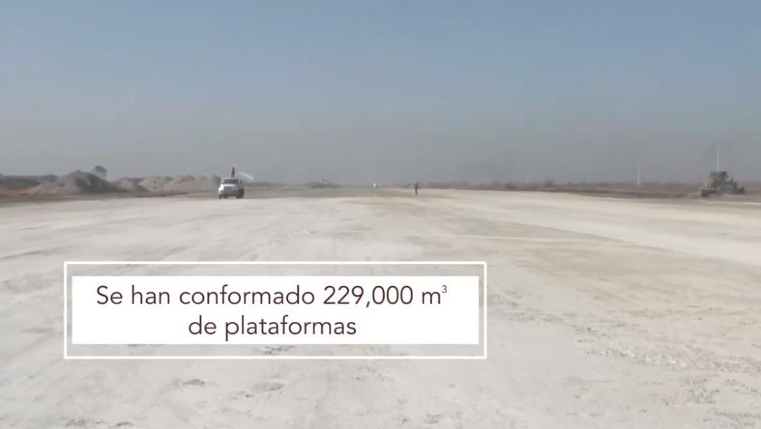AMLO presenta video sobre avances en aeropuerto Santa Lucía. (Presidencia de la República)