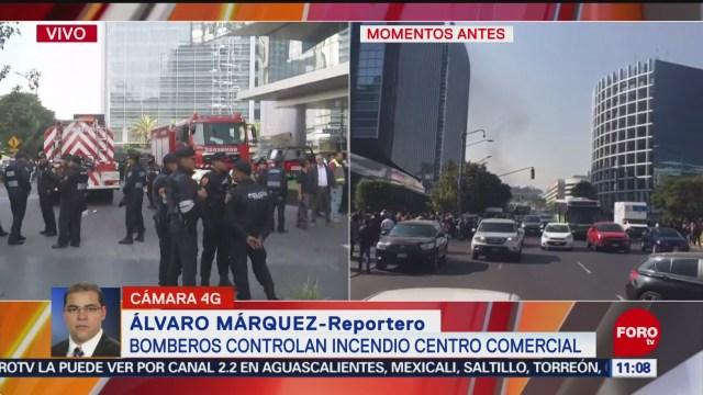 bomberos controlan incendio en park plaza de santa fe cdmx