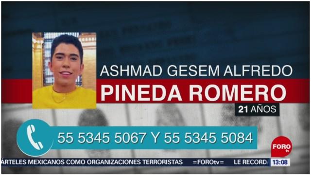 Foto: Buscan a Ashmad Gesem Alfredo Pineda Romero, 8 de diciembre de 2019 (Foro TV)