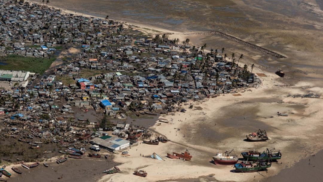 Foto: Vista aérea de un barrio afectado por el ciclón 'Idai' el 24 de marzo de 2019