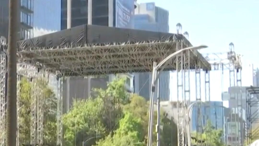 Foto: Cierres viales en Reforma por festejos de Año Nuevo