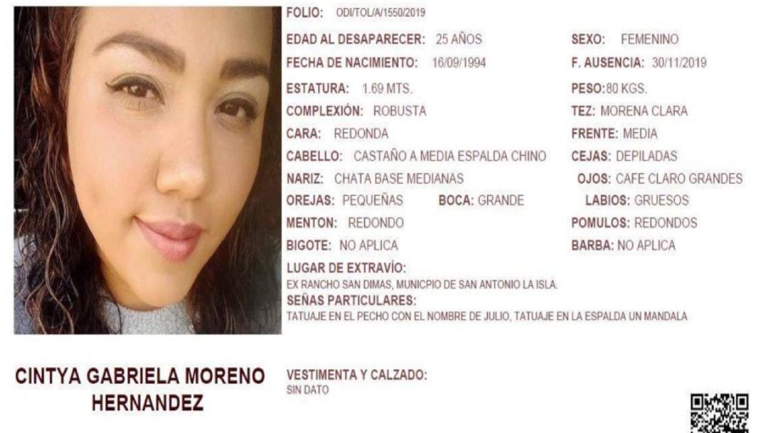 IMAGEN Reportan a 2 mujeres desaparecidas en Edomex, una pidió ayuda en Facebook (Fiscalía Edomex)