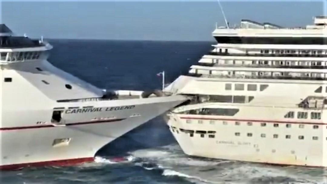 Turista narra cómo colisionaron los dos cruceros en Cozumel