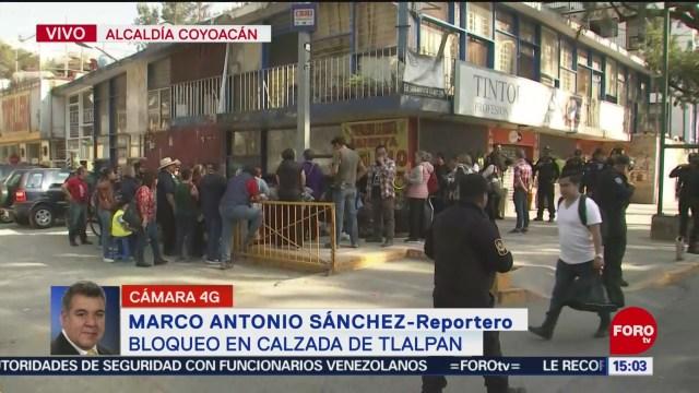 FOTO: Damnificados liberan Calzada de Tlalpan tras bloqueo, 15 diciembre 2019