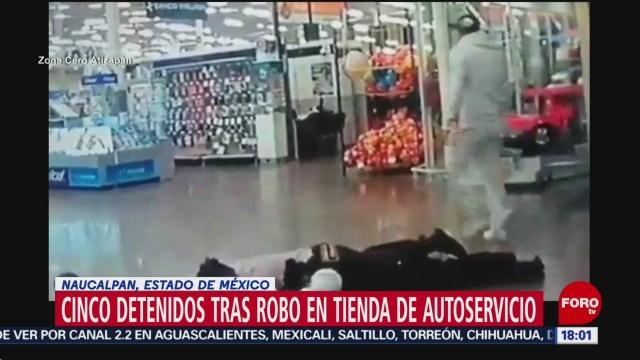 FOTO: Detienen Cinco Por Robo Tienda Autoservicio Satélite
