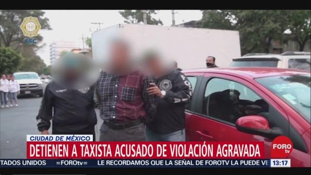 detienen a taxista acusado de violacion