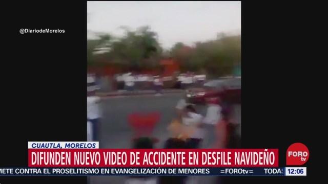 difunden nuevo video de atropellamiento durante desfile de navidad