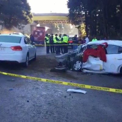 Choque deja dos muertos en la autopista México-Toluca
