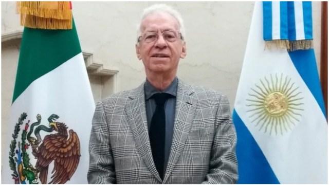 Imagen: Óscar Ricardo Valerio Recio presentó su renuncia como Embajador, 22 de diciembre de 2019 (Twitter)