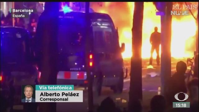 enfrentamientos en barcelona dejan varios heridos