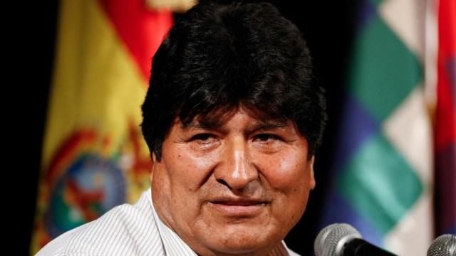 Foto: Evo Morales convoca a un acto en la frontera entre Argentina y Bolivia, 14 de diciembre de 2019 (AP)