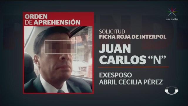 Foto: Exesposo Abril Buscado Ficha Roja Interpol 10 Diciembre 2019