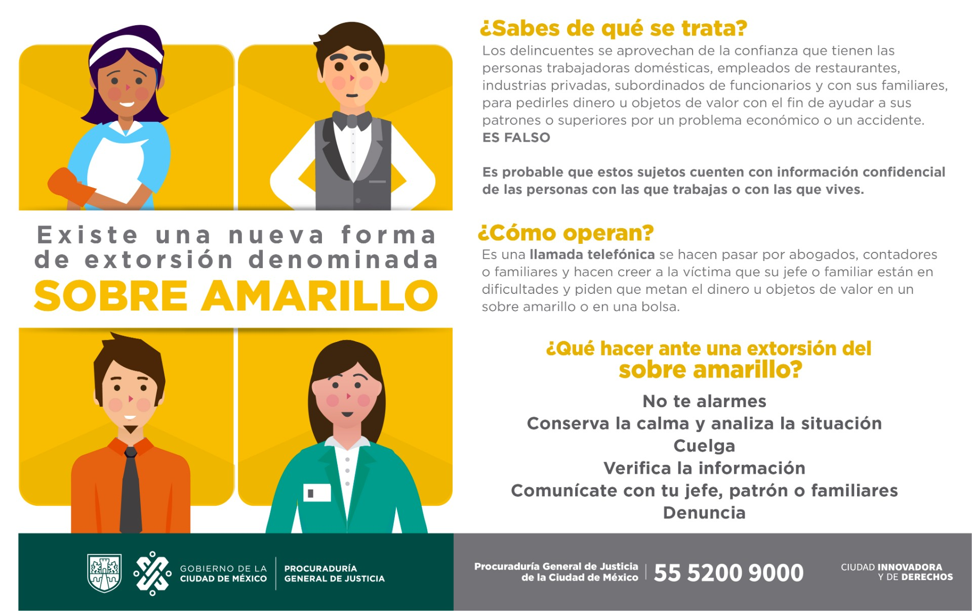 extorsion sobre amarillo