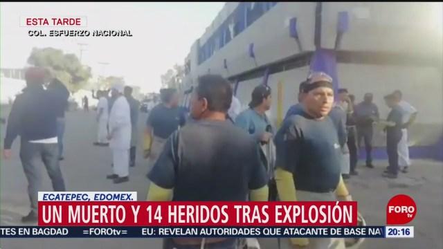 Fallece una persona tras registrarse explosión en fábrica de Ecatepec
