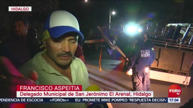 FOTO: Fallece uno tras volcadura del autobús en Hidalgo, 14 diciembre 2019