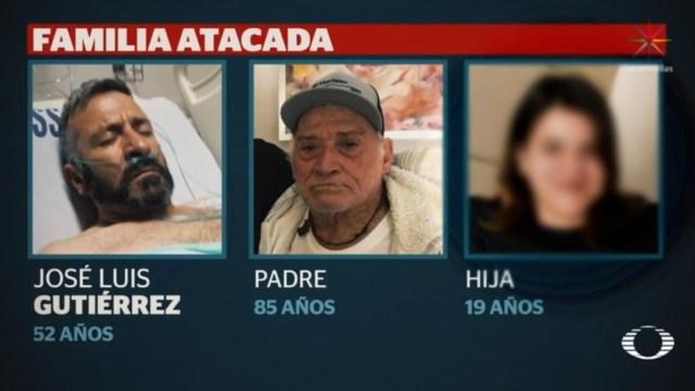 Foto: José Luis Gutiérrez, de 52 años de edad, su padre de 85 y su hija de 19 fueron atacados la madrugada del 23 de diciembre cuando se dirigían a festejar la navidad con su familia en Arandas, Jalisco