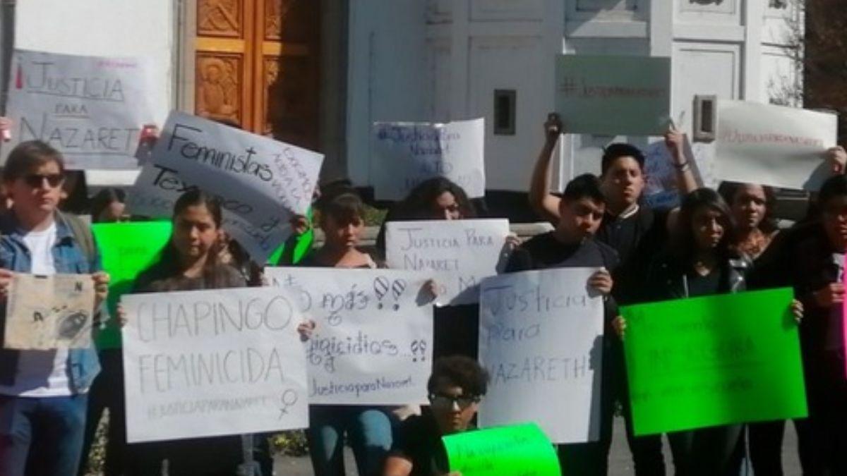 Protestas en la Universidad de Chapingo.