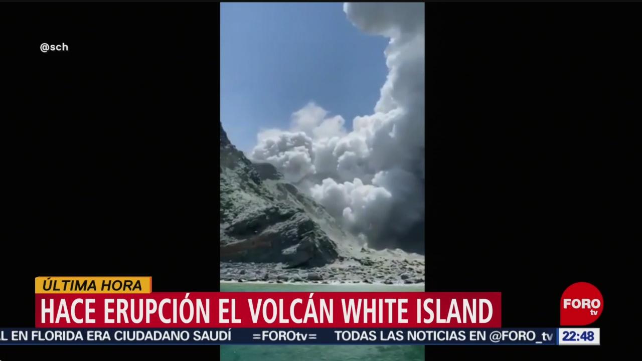 FOTO:Hace erupción el volcán White Island en Nueva Zelanda, 8 diciembre 2019