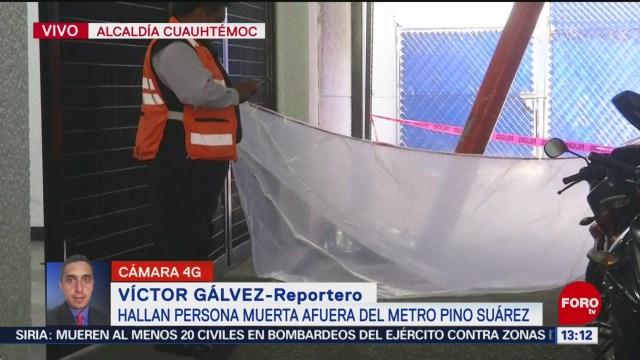FOTO: Hallan Persona Muerta Metro Pino Suárez