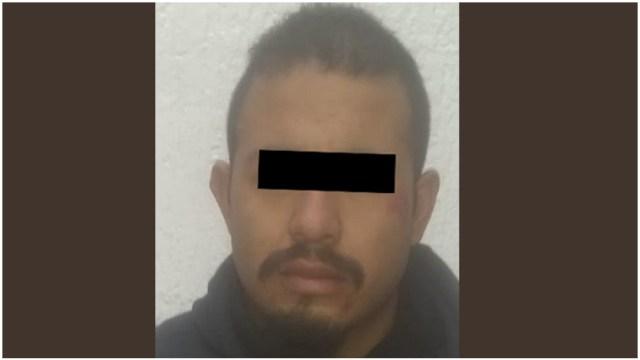 Foto: Un hombre fue detenido por su probable participación en el robo de celulares, 8 de diciembre de 2019 (SS-Edomex)
