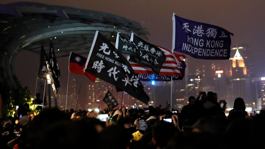 foto Hong Kong registra protesta de Año Nuevo