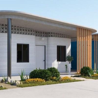 Impresora gigante 3D construye casas en Tabasco resistentes a desastres naturales