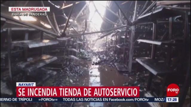 Foto: Incendio Tienda Autoservicio Nayarit 26 Diciembre 2019