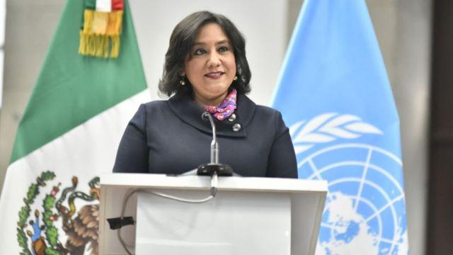 Irma Eréndira Sandoval, secretaria de la Función Pública.