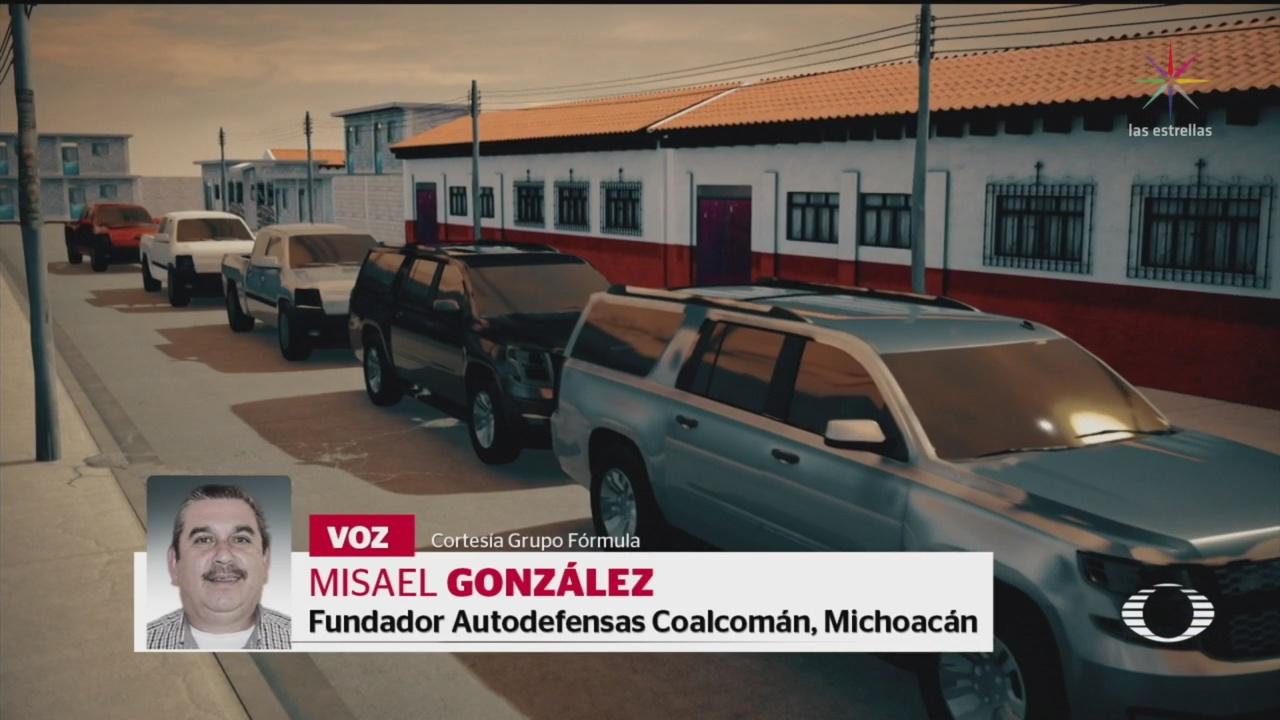 Foto: Irrumpen Coalcomán Michoacán Integrantes Cjng 6 Diciembre 2019