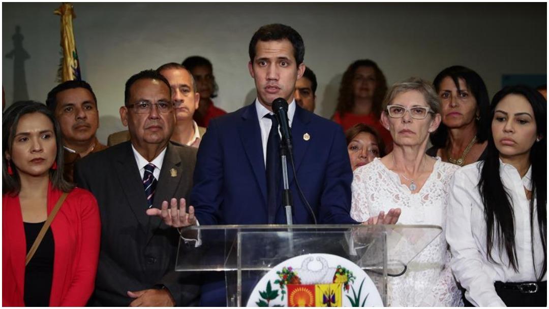 Imagen: Acusan a Juan Guaidó de encabezar supuesto baño de sangre contra Venezuela, 14 de diciembre de 2019 (EFE)
