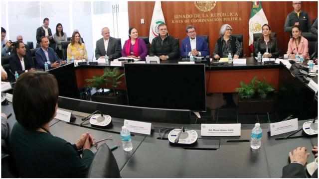 Foto: Marcelo Ebrard compartió la actualización de las negociaciones del T-MEC, 8 de diciembre de 2019 (Senado)