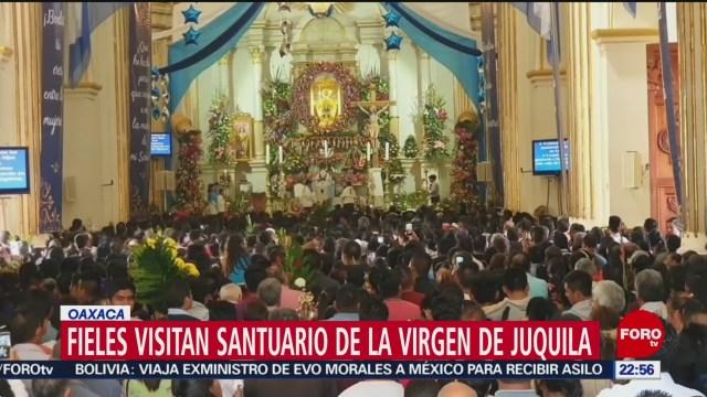 FOTO: Miles visitan Santuario de la Virgen de Juquila, en Oaxaca, 8 diciembre 2019