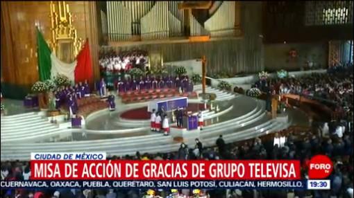 FOTO: Misa de Acción de Gracias de Televisa en la Basílica de Guadalupe, 8 diciembre 2019