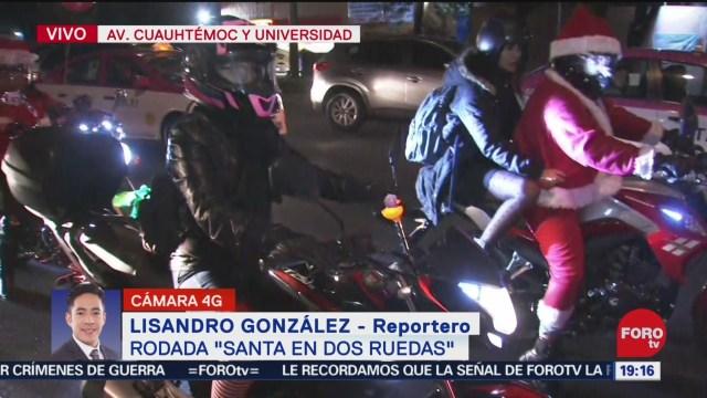 FOTO: 21 diciembre 2019, motociclistas se disfrazan de santa claus en la cdmx