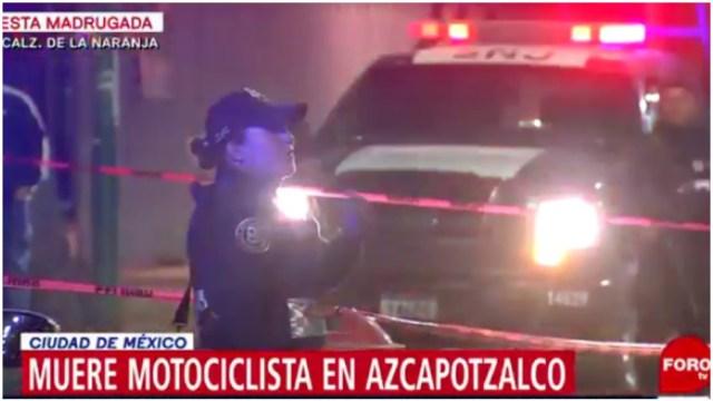 Foto: Un motociclista falleció tras ser atropellado en Azcapotzalco, 29 de diciembre de 2019 (Foro TV)