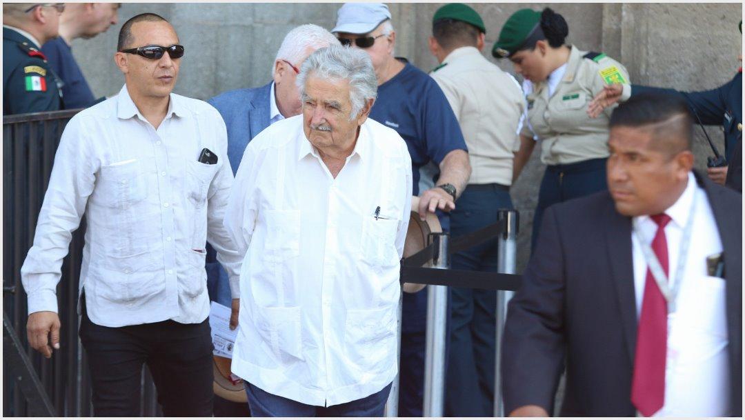 Foto: José Mujica acudió al evento de López Obrador en el Zócalo, 1 de diciembre de 2019 (FOTO: MOISÉS PABLO /CUARTOSCURO.COM)
