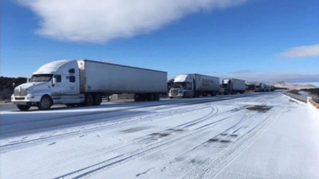 FOTO: Cierre de carreteras en Chihuahua por nevadas y bajas temperaturas, el 29 de diciembre de 2019