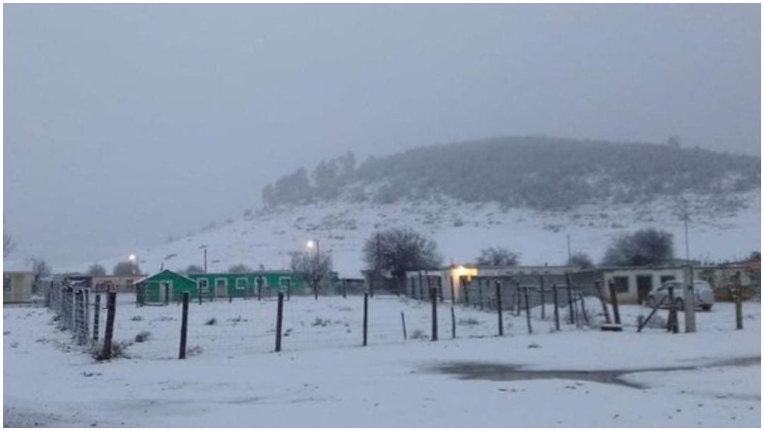 Foto: La madrugada de este sábado se registró la primera nevada en Galeana, 21 de diciembre de 2019 (Noticieros Televisa)