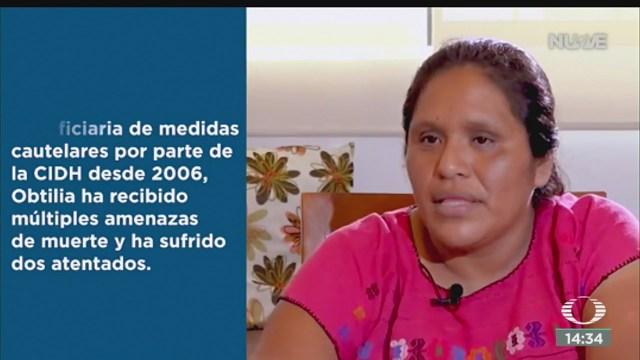 FOTO: Obtilia Eugenio Manuel Premio Nacional Derechos Humanos