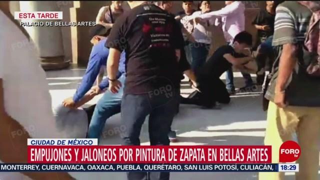 Pintura Zapata Afeminado Provoca Riña Bellas Artes