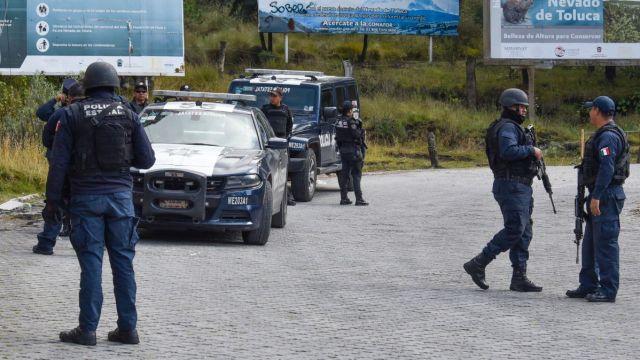 Operativo de seguridad en el Nevado de Toluca.