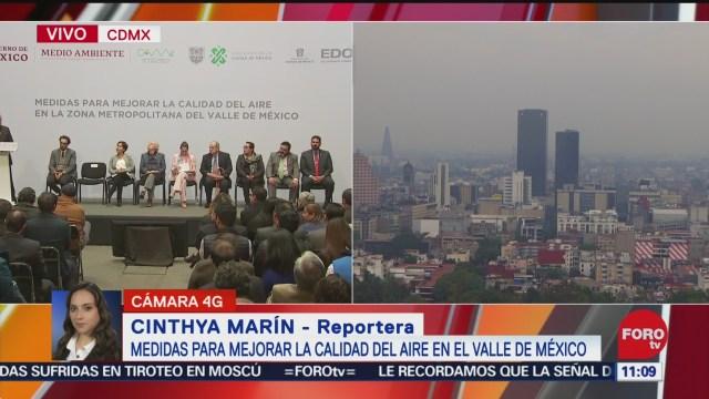 presentan medidas para mejorar la calidad del aire en el valle de mexico