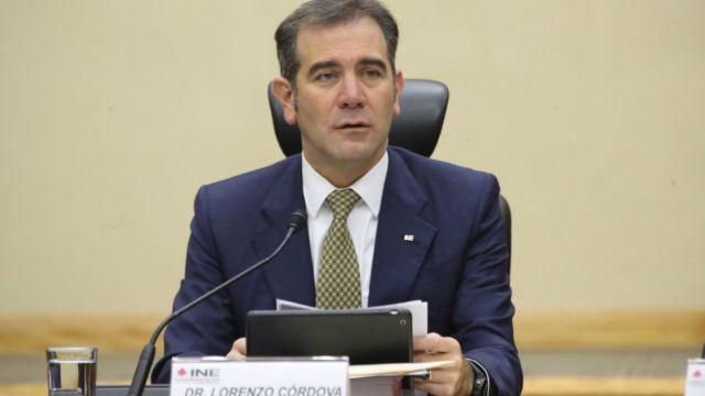 Lorenzo Córdova. consejero presidente del INE.
