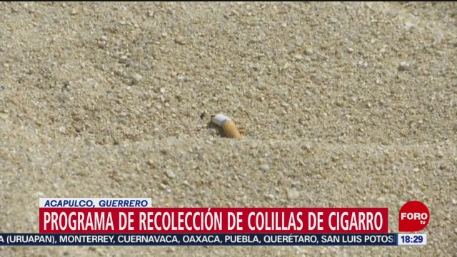 FOTO: 31 diciembre 2019,programa de recoleccion de colillas de cigarro en guerrero