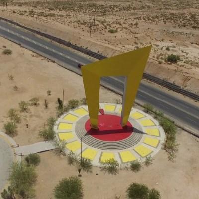 Foto:Umbral del Milenio, también llamada Puerta de Juárez,se ubicada en la entrada a la ciudad, 7 diciembre 2019