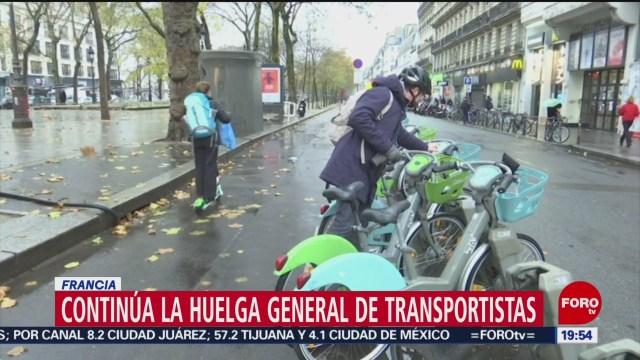 Foto: Renta Bicis Scooters Negocio Huelga Transportistas París 6 Diciembre 2019