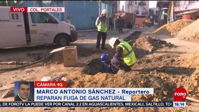 FOTO: Reportan Fuga Gas Colonia Portales,