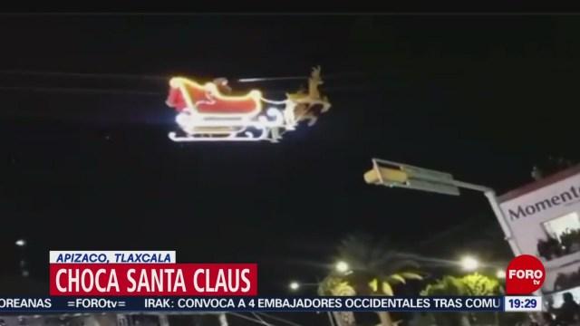 Foto: Santa Claus Choca Edificio Tlaxcala 9 Diciembre 2019